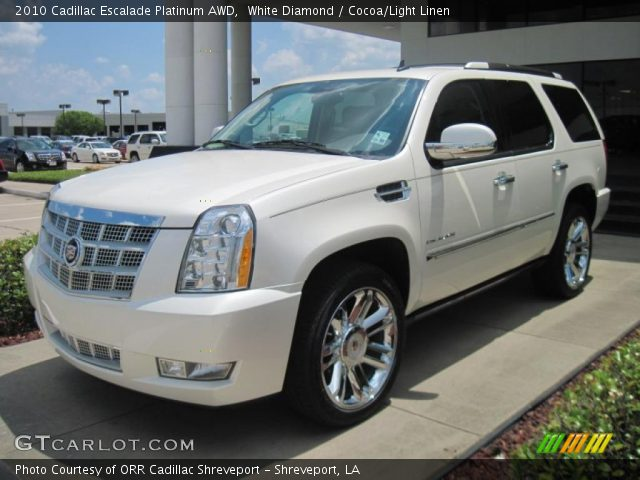 white diamond 2010 cadillac escalade platinum awd. Black Bedroom Furniture Sets. Home Design Ideas