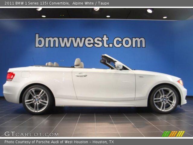 2011 BMW 1 Series 135i Convertible in Alpine White