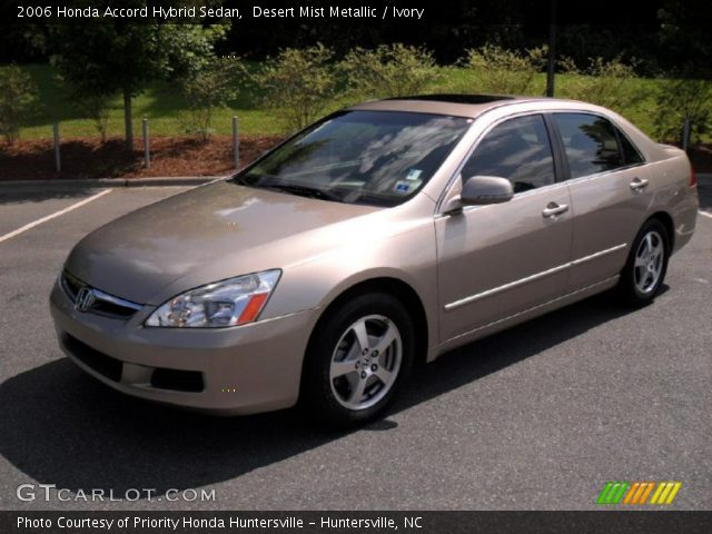 desert mist metallic 2006 honda accord hybrid sedan. Black Bedroom Furniture Sets. Home Design Ideas