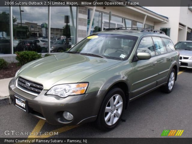 willow green opalescent 2006 subaru outback limited. Black Bedroom Furniture Sets. Home Design Ideas