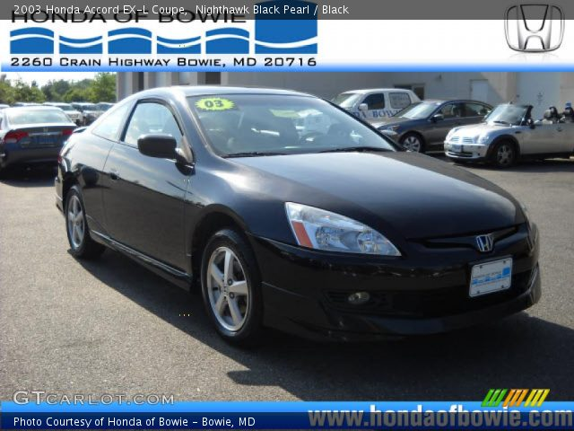 nighthawk black pearl 2003 honda accord ex l coupe black interior vehicle. Black Bedroom Furniture Sets. Home Design Ideas