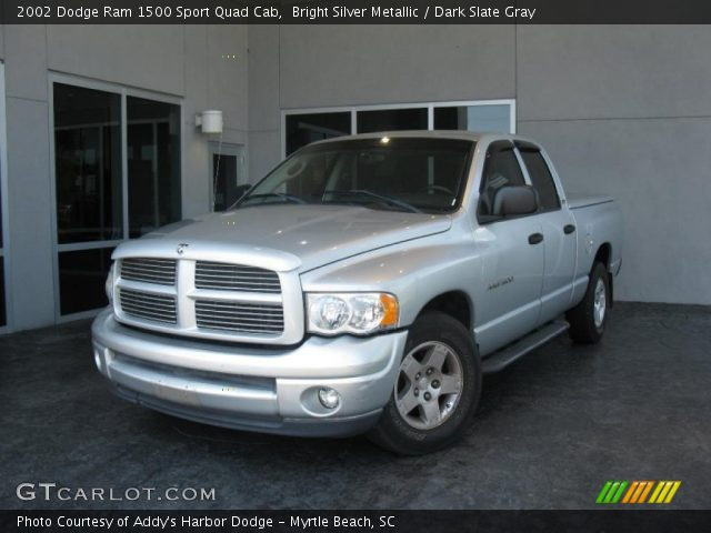 bright silver metallic 2002 dodge ram 1500 sport quad cab dark slate gray interior. Black Bedroom Furniture Sets. Home Design Ideas
