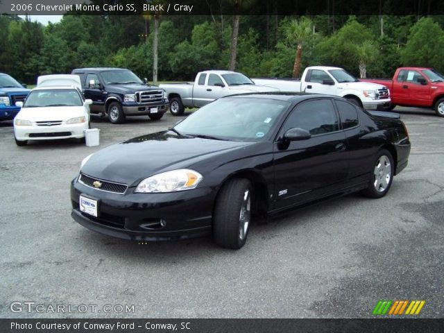 black 2006 chevrolet monte carlo ss gray interior. Black Bedroom Furniture Sets. Home Design Ideas