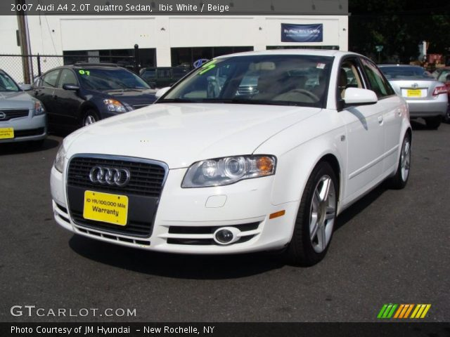 ibis white 2007 audi a4 2 0t quattro sedan beige. Black Bedroom Furniture Sets. Home Design Ideas