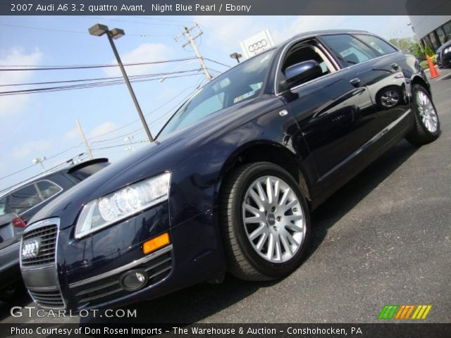 night blue pearl 2007 audi a6 3 2 quattro avant ebony interior vehicle. Black Bedroom Furniture Sets. Home Design Ideas