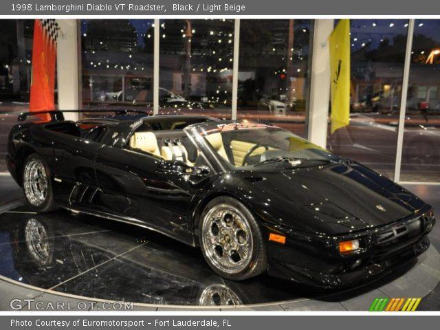 1998 Lamborghini Diablo VT Roadster in Black. Click to see large photo ...