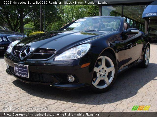 black 2008 mercedes benz slk 280 roadster brown premium leather interior. Black Bedroom Furniture Sets. Home Design Ideas