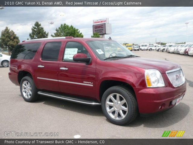 red jewel tintcoat 2010 gmc yukon xl denali awd cocoa light cashmere interior. Black Bedroom Furniture Sets. Home Design Ideas