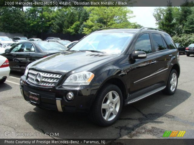 Obsidian black metallic 2008 mercedes benz ml 550 4matic for 2008 mercedes benz ml550 4matic