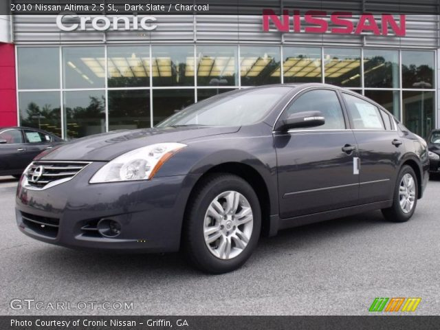 dark slate 2010 nissan altima 2 5 sl charcoal interior vehicle archive. Black Bedroom Furniture Sets. Home Design Ideas