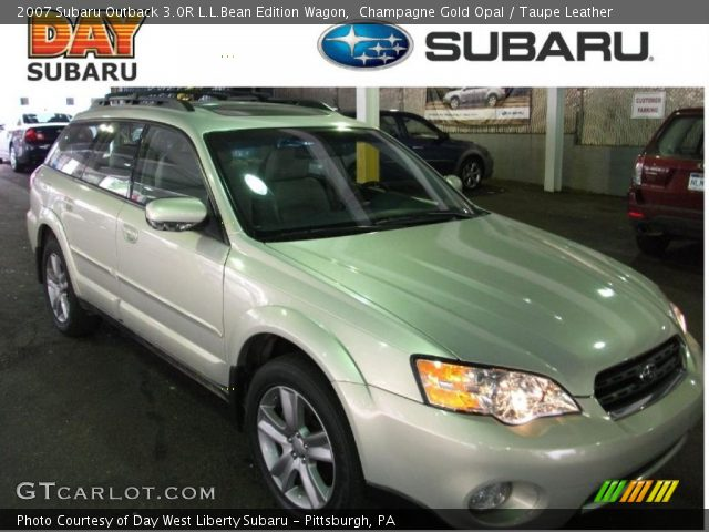 champagne gold opal 2007 subaru outback 3 0r l l bean. Black Bedroom Furniture Sets. Home Design Ideas