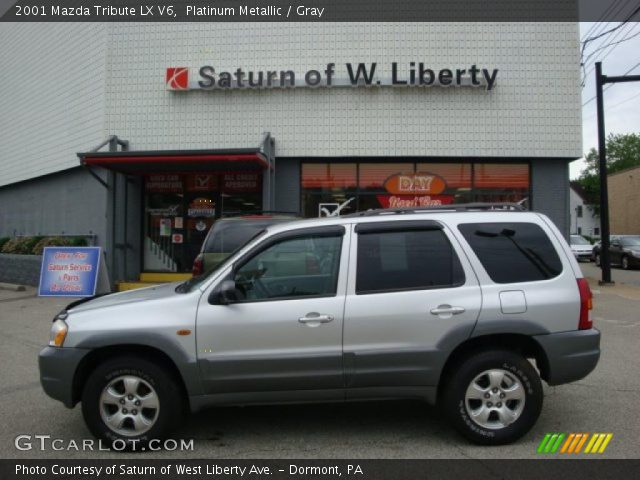 platinum metallic 2001 mazda tribute lx v6 gray interior vehicle archive. Black Bedroom Furniture Sets. Home Design Ideas