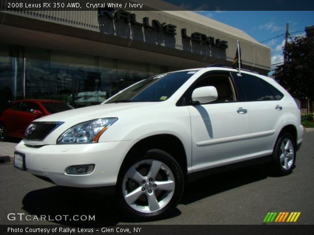 crystal white 2008 lexus rx 350 awd ivory interior vehicle archive 31080089. Black Bedroom Furniture Sets. Home Design Ideas