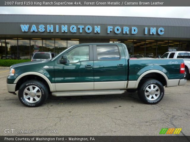 2007 Ford F150 King Ranch SuperCrew 4x4 in Forest Green Metallic