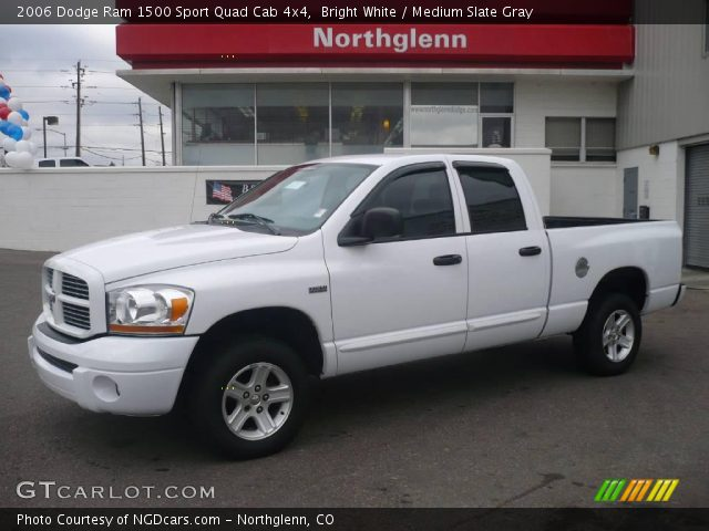 bright white 2006 dodge ram 1500 sport quad cab 4x4 medium slate gray interior gtcarlot. Black Bedroom Furniture Sets. Home Design Ideas