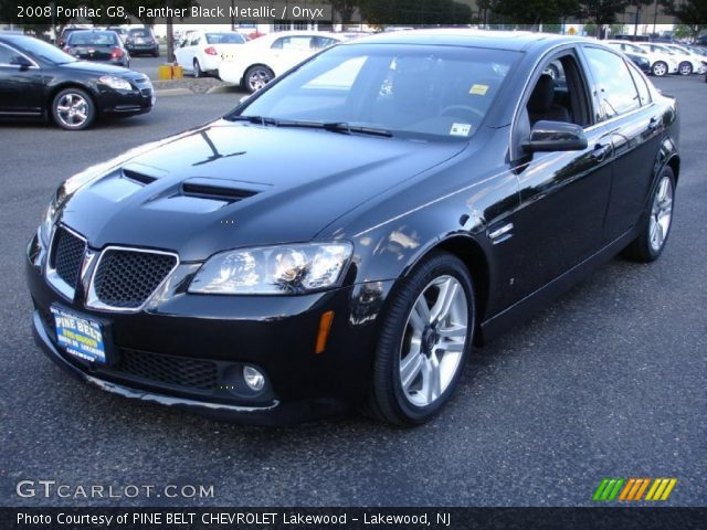 Panther Black Metallic 2008 Pontiac G8 Onyx Interior