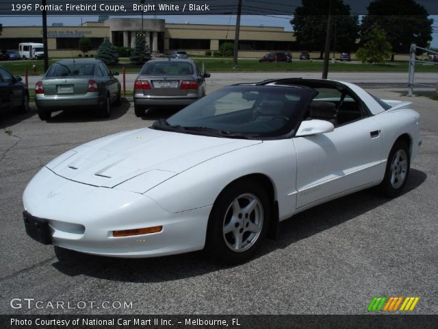 Bright White - 1996 Pontiac Firebird Coupe - Black Interior | GTCarLot ...