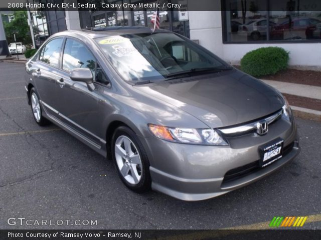 galaxy gray metallic 2008 honda civic ex l sedan gray. Black Bedroom Furniture Sets. Home Design Ideas