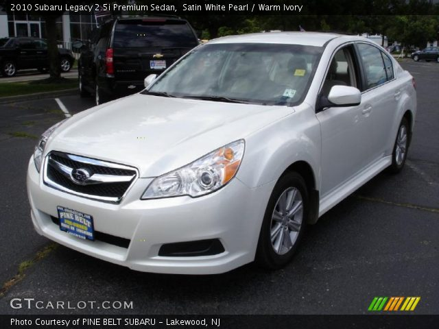 satin white pearl 2010 subaru legacy premium sedan warm ivory interior. Black Bedroom Furniture Sets. Home Design Ideas