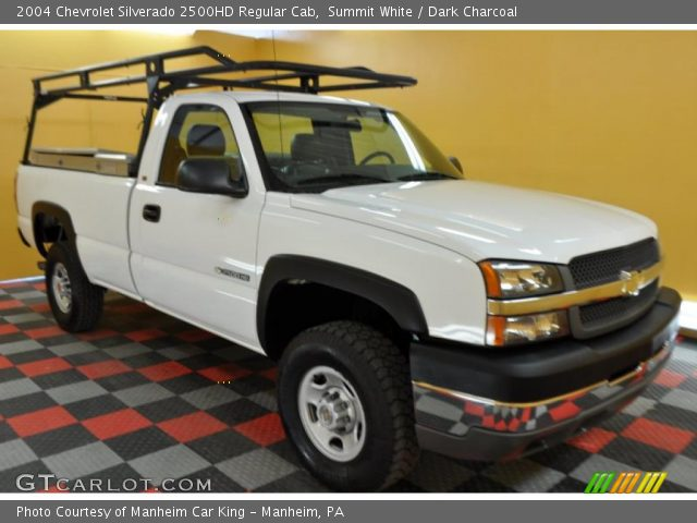 summit white 2004 chevrolet silverado 2500hd regular cab dark charcoal interior gtcarlot. Black Bedroom Furniture Sets. Home Design Ideas