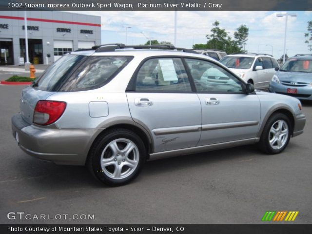 platinum silver metallic 2002 subaru impreza outback. Black Bedroom Furniture Sets. Home Design Ideas