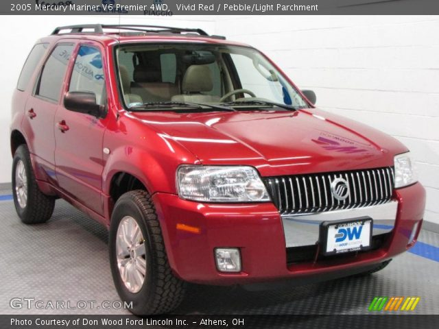 vivid red 2005 mercury mariner v6 premier 4wd pebble. Black Bedroom Furniture Sets. Home Design Ideas