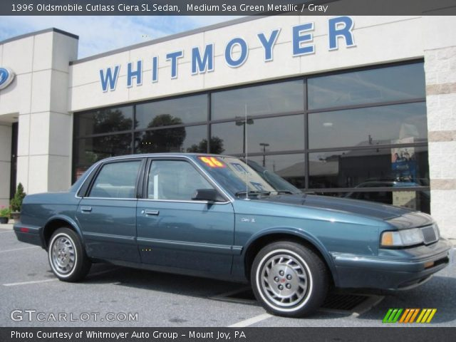 medium sea green metallic 1996 oldsmobile cutlass ciera sl sedan gray interior gtcarlot com vehicle archive 31257091 gtcarlot com