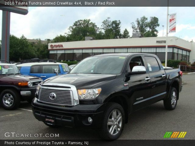black 2010 toyota tundra limited crewmax 4x4 red rock interior vehicle. Black Bedroom Furniture Sets. Home Design Ideas