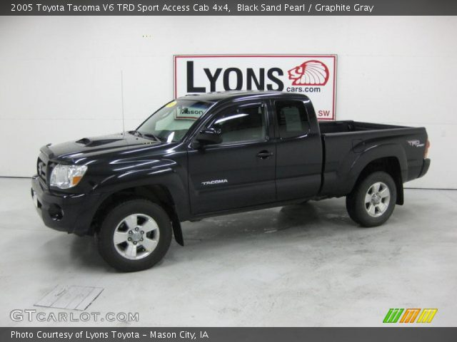 black sand pearl 2005 toyota tacoma v6 trd sport access. Black Bedroom Furniture Sets. Home Design Ideas