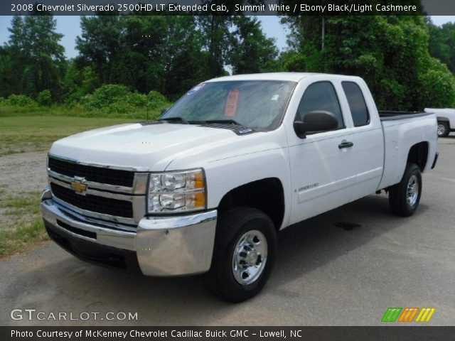 summit white 2008 chevrolet silverado 2500hd lt extended cab ebony black light cashmere. Black Bedroom Furniture Sets. Home Design Ideas
