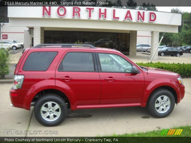 2010 Mercury Mariner I4 4WD in Sangria Red Metallic