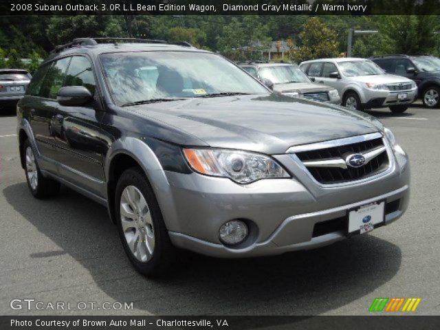 diamond gray metallic 2008 subaru outback 3 0r l l bean. Black Bedroom Furniture Sets. Home Design Ideas
