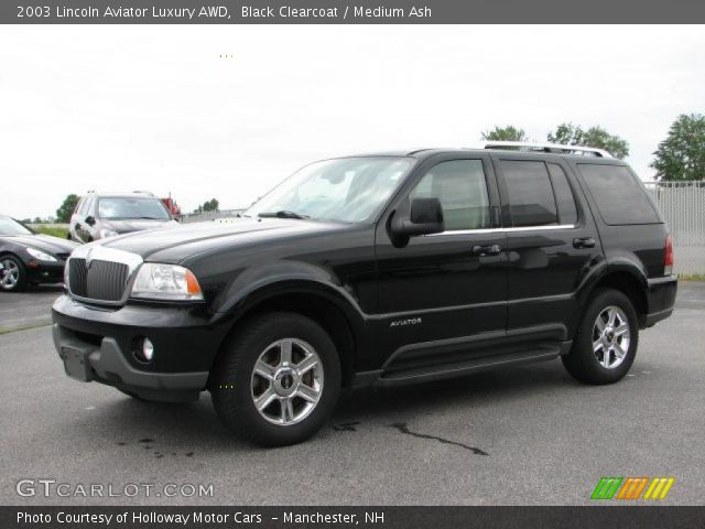Black Clearcoat 2003 Lincoln Aviator Luxury Awd Medium Ash Interior Vehicle