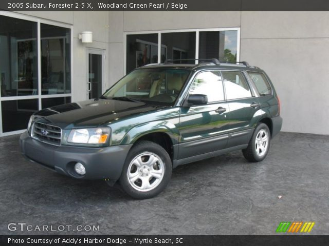 Woodland green pearl 2005 subaru forester 2 5 x beige for Woodland motors used cars