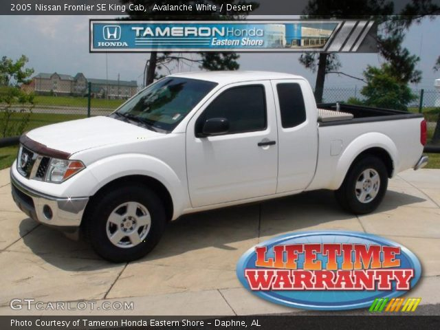 Avalanche White 2005 Nissan Frontier Se King Cab Desert Interior Vehicle