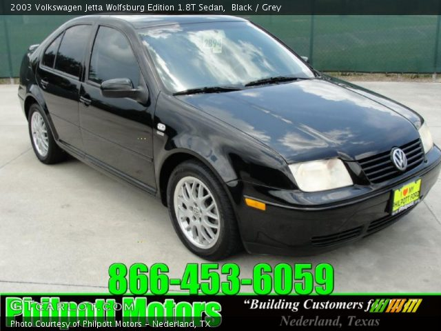 black 2003 volkswagen jetta wolfsburg edition 1 8t sedan grey interior. Black Bedroom Furniture Sets. Home Design Ideas