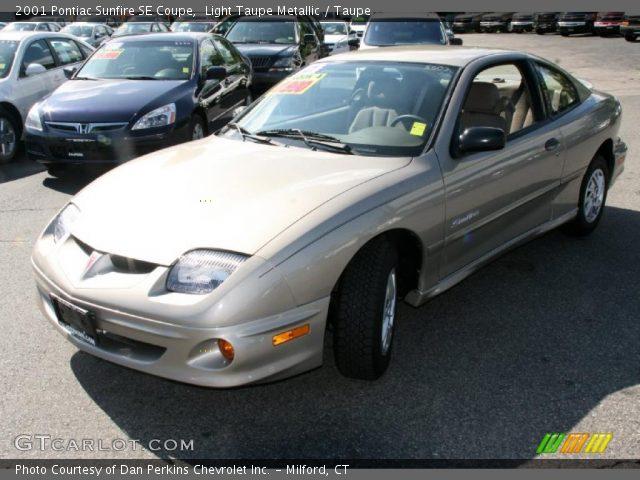 Light Taupe Metallic - 2001 Pontiac Sunfire SE Coupe - Taupe Interior ...