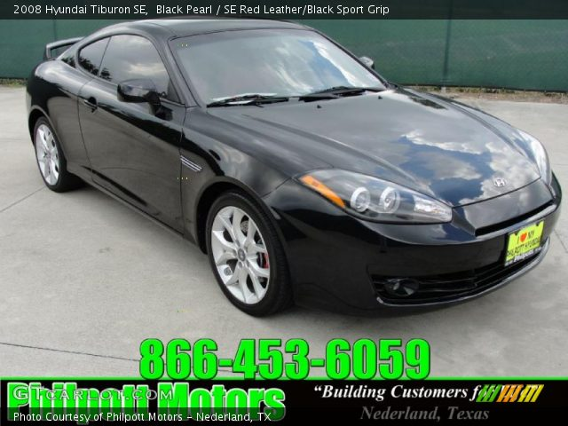 black pearl 2008 hyundai tiburon se se red leather. Black Bedroom Furniture Sets. Home Design Ideas