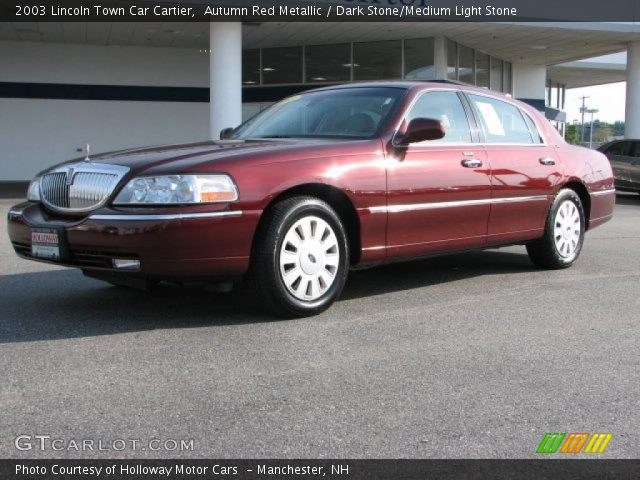 autumn red metallic 2003 lincoln town car cartier dark stone medium light stone interior. Black Bedroom Furniture Sets. Home Design Ideas