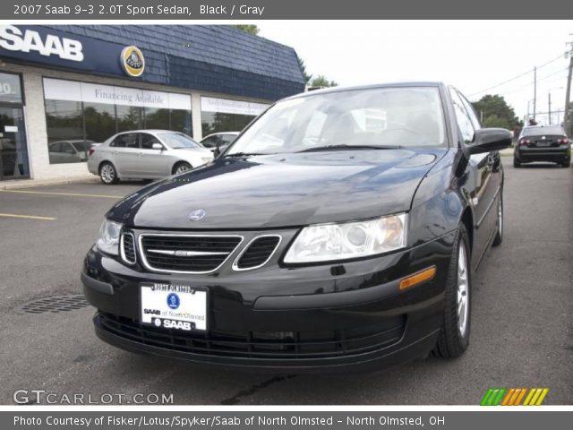 black 2007 saab 9 3 2 0t sport sedan gray interior vehicle archive 31536909. Black Bedroom Furniture Sets. Home Design Ideas
