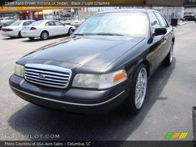 Black 1998 Ford Crown Victoria Lx Sedan Light Graphite Interior Vehicle
