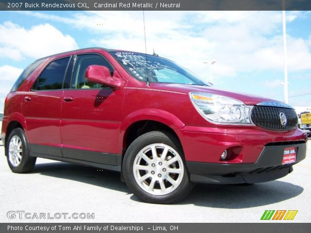 cardinal red metallic 2007 buick rendezvous cxl neutral interior vehicle. Black Bedroom Furniture Sets. Home Design Ideas