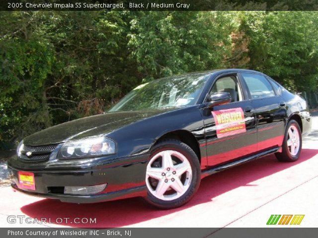 black 2005 chevrolet impala ss supercharged medium gray interior vehicle. Black Bedroom Furniture Sets. Home Design Ideas