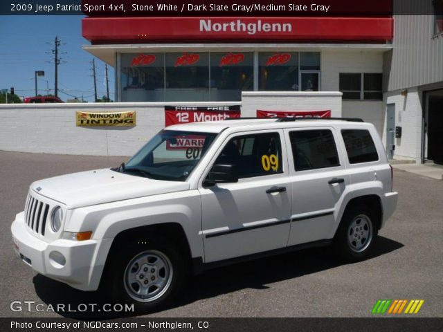 stone white 2009 jeep patriot sport 4x4 dark slate. Black Bedroom Furniture Sets. Home Design Ideas