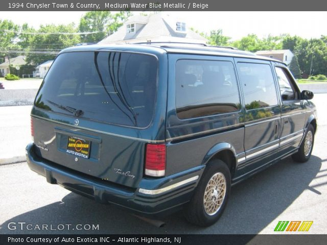 medium water blue metallic 1994 chrysler town country beige interior. Black Bedroom Furniture Sets. Home Design Ideas