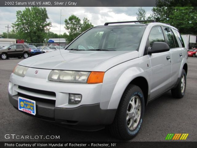 silver 2002 saturn vue v6 awd gray interior gtcarlot. Black Bedroom Furniture Sets. Home Design Ideas