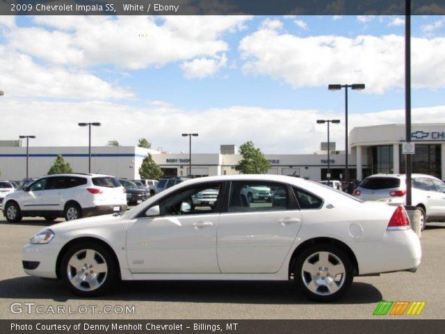 white 2009 chevrolet impala ss ebony interior vehicle archive 31585359. Black Bedroom Furniture Sets. Home Design Ideas