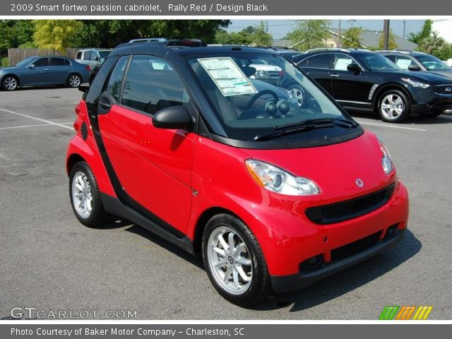 rally red 2009 smart fortwo passion cabriolet design black interior vehicle. Black Bedroom Furniture Sets. Home Design Ideas