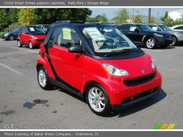 2009 Smart fortwo passion cabriolet in Rally Red