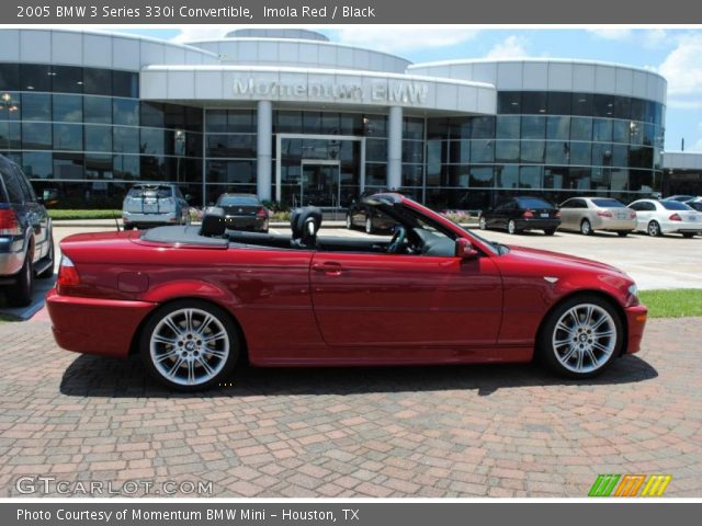 Imola Red 2005 Bmw 3 Series 330i Convertible Black Interior Vehicle Archive
